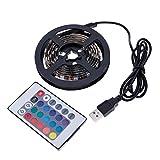 VANKER Laptop TV Hintergrundbeleuchtung USB RGB 5050SMD 60LED Flexible Farbwechsel-Streifen Licht, 1.5 m