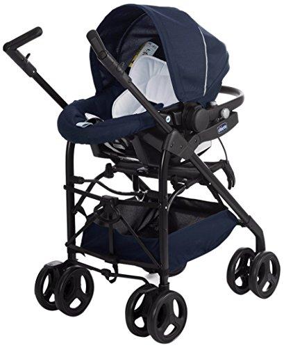 Imagen para Chicco Trío Sprint - Sistema de paseo y viaje 3 en 1, capazo/carrito/coche, color azul