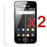 Skque® 2 x Displayschutzfolie für Samsung Galaxy Ace S5830 Displayschutz...