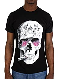Tshirt Monsterpiece Skull Rose Noir
