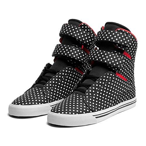 Shoes Supra WMNS SOCIETY black polka/Red–White, Schwarz - Schwarz - schwarz -...