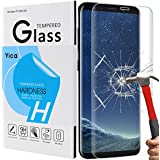 Samsung Galaxy S8 Schutzglas Schutzfolie,Yica 3D Full Coverage Galaxy S8 Schutzfolie HD Clear Screen protecter Curved Panzerglas Schwarz 9H Tempered Glass für Samsung Galaxy S8