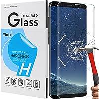 Samsung Galaxy S8 Schutzglas Schutzfolie,Yica 3D Full Coverage Galaxy S8 Schutzfolie HD Clear Screen protecter Curved Panzerglas Schwarz 9H Tempered Glass für Samsung Galaxy S8