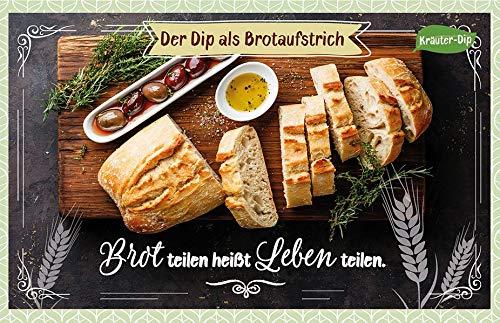 Brot teilen heißt Leben teilen.: Kräuter-Dip-Karte