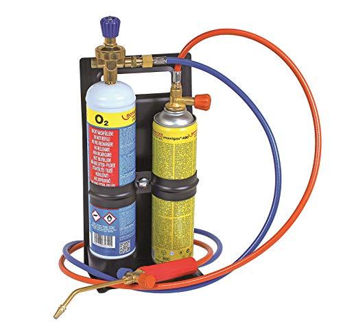 Rothenberger Industrial Autogenschweiß-und Hartlötgerät Roxy Kit Eco, inkl. Gas-und Sauerstoffbehälter für sofortige Anwendung 35748, multi