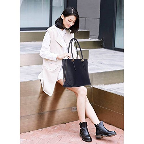 LeahWard® Große Größe Käufer Handtaschen nett Groß Taschen Reißverschluss Detail Käufer Schwarz Reißverschluss Detail Taschen