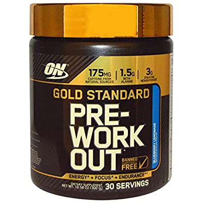 Gold Standard Pre-Workout, power energy strength workout focus - 330 grams by Optimum Nutrition by Optimum Nutrition