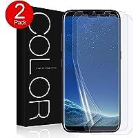Galaxy S8 Schutzfolie [2 Stück], G-Color Samsung Galaxy S8 HD Displayschutzfolie [Mit Hülle] Folie [Blasenfreie] Schutzfolie [nicht Panzerglas Folie] für Samsung Galaxy S8 (Transparent)