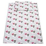 TupTam Kinder Bettwäsche Set 100x135 Baumwolle Gemustert, Farbe: Katze mit Ballon / Grau, Größe: 135x100 cm