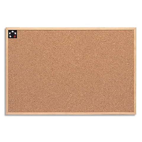 5 Star Office 906705 Tableau de liège avec cadre en bois 60 x 40 cm