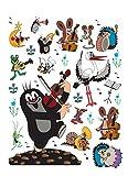 1art1 91455 Der Kleine Maulwurf - Music Wand-Tattoo Aufkleber Poster-Sticker 85 x 65 cm