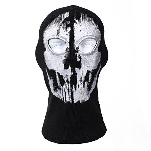 XUE Sturmhaube Ghost Winter für Herren Damen Face Shield Ski Motorrad Paintball Airsoft Halloween Maske (Ghosts Of Duty Call Halloween-maske)