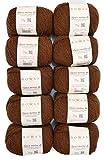 Rowan 250g Wollpaket, 10x25g Alpaca Merino dk, Fb. 104, Baby Alpaka Wolle zum Stricken und Häkeln, Wolle Paket Restposten