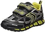 Geox J Shuttle a, Zapatillas para Niños, Negro (Black/Lime), 33 EU