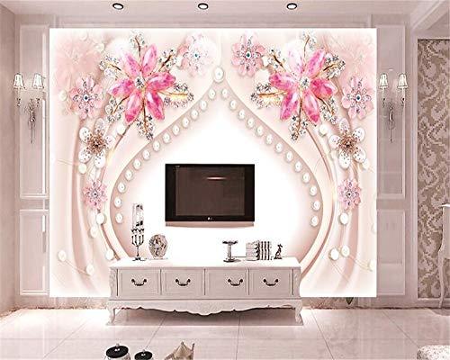 MuralXW Erweiterte Mode Ästhetische Tapete Wandbild 3D Wallpaper Stereo Phantasie Schmuck Edelstein Hintergrund Dekorative Gemälde-200x140cm (über Edelsteine Die Lernen)