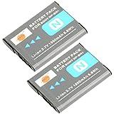 DSTE® 2x NP-BN1 Li-ion Batería para Sony Cyber-shot DSC-W510, DSC-W515PS, DSC-W500, DSC-W520, DSC-W530, DSC-W550, DSC-W560, DSC-W570, DSC-W580, DSC-W610, DSC-W620, DSC-W650, DSC-W690, DSC-W710, DSC-W730, DSC-W810, DSC-W830, DSC-WX5, DSC-WX7, DSC-WX9, DSC-WX30, DSC-WX50, DSC-WX70, DSC-WX80, DSC-WX150, DSC-QX10, DSC-QX100, DSC-T99, DSC-T110, DSC-TF1, DSC-TX5, DSC-TX7, DSC-TX9, DSC-TX10, DSC-TX20, DSC-TX30, DSC-TX55, DSC-TX66, DSC-TX100V, DSC-TX200V, DSC-W310, DSC-W320, DSC-W330, DSC-W350, DSC-W360, DSC-W380, DSC-W390 Cámara
