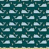ABAKUHAUS Wal Stoff als Meterware, Könige des Meeres