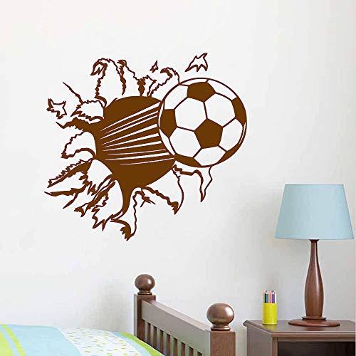 3 d fußball abnehmbare vinyl tapete wohnzimmer schlafzimmer material Home Kunstwand wandtattoos Dekoration 44 * 55 cm