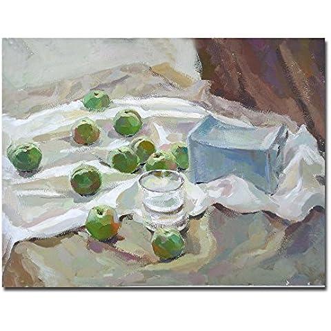 lotuslife dipinti frutta e tazza con stampa