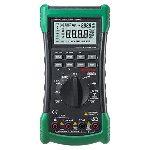 Mastech MS5208 6600 cuenta multímetro Digital medidor de resistencia de aislamiento Megger True RMS temperatura medidor de corriente voltaje de CA