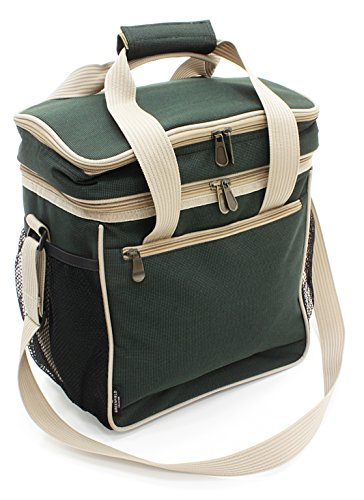 The Greenfield Collection CB002H Luxus Federleichte Kühltasche 18 L, forest grün