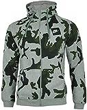 Nike Mens Camo Hoody Fleece Hooded Top AOP Club Zip Top Grey New AH7019 (Medium)