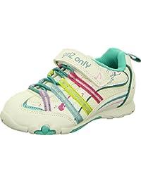 girlZ onlY Farbenfroher Sneaker mit Klettverschluss, Atmungsaktiv, Sportlich, Musik- und Blumenmuster