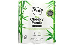 THE CHEEKY PANDA | Natural Bamboo Toilet Tissue | 2 x 9 Rolls (UK)