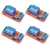 4 Stück 24V One 1 Kanal Relay Module Board Shield mit Optokoppler unterstützt High und Low Level Trigger