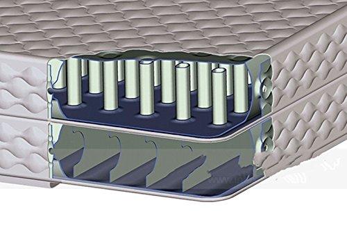 YJIAO Eingebaute Pumpe,Einfache Einrichtung,Dauerhaft,Doppelzimmer Aufblasbare matratze Verdicken Sie Double Layer-A 152x203x38cm(60x80x15inch)
