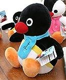 Peluche imbottito del pinguino Pingu, personaggio dei cartoni animati, 25 cm, colore: nero
