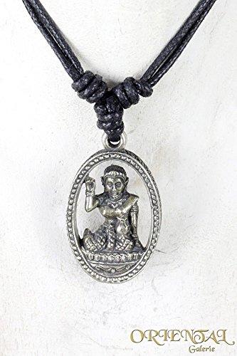 nang-kwak-ganesha-shiva-buddha-anhanger-lederkette-halsband-bronze-versilbert