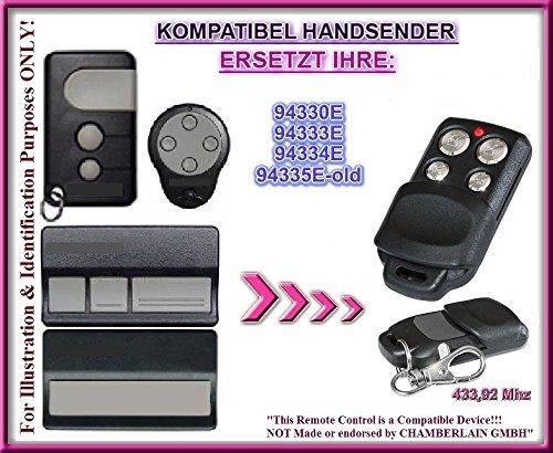 Chamberlain 94330E / 94333E / 94334E / 94335E-OLD kompatibel handsender, ersatz sender, 433.92Mhz rolling code. Top Qualität ersatzgerät!!!