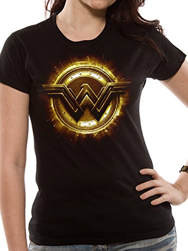 stice League Movie-Wonder Woman Symbol, Schwarz, 40 (Movie-star-frauen)