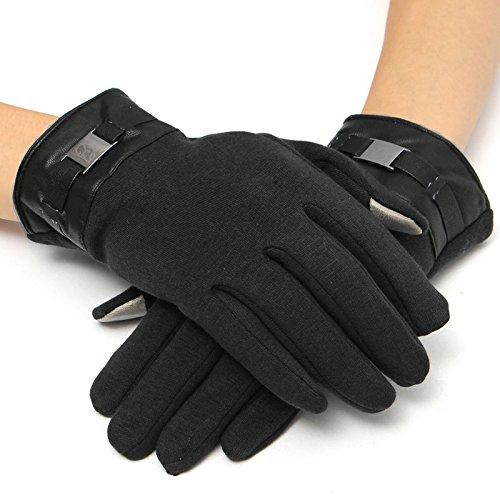 Winter Voller Sitz (EsportsMJJ Herren Handschuhe Voll Finger Smartphone Touch Screen Kaschmir Handschuhe Handschuhe Winter - Schwarz)