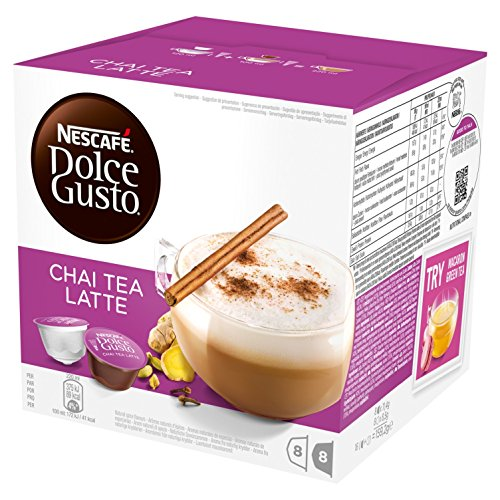 NESCAFÉ Dolce Gusto Chai Tea Latte, Pack of 3 (Total 48 Capsules, 24 Servings)