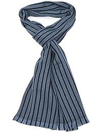 Lovarzi Wolle Schal für Herren - Gestreifter Männer Winterschal - Hergestellt in Italien