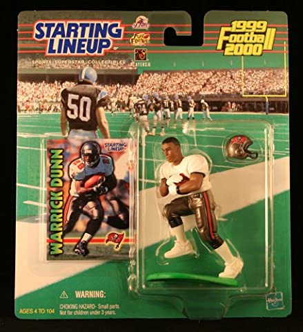 WARRICK DUNN / TAMPA BAY BUCCANEERS 1999-2000 NFL Starting Lineup Action Figure & Exclusive NFL Collector Trading Card