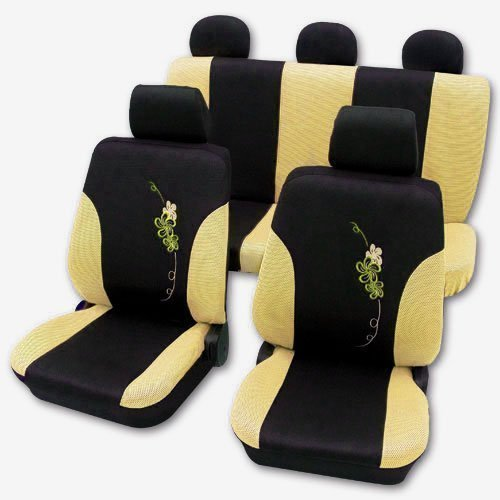 Schwarz Sitzbezug Auto Baby (AUTOTEILE SITZBEZÜGE SET SCHONBEZÜGE GELB SCHONBEZUG 95)