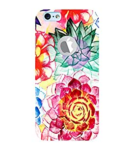 PrintVisa Modern Art Flower Pattern 3D Hard Polycarbonate Designer Back Case Cover for Apple iPhone 6 Logo