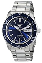 Seiko Herren-Armbanduhr XL Seiko 5 Sports Analog Automatik Edelstahl SNZH53K1