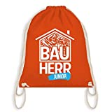 Sprüche Kind - Bauherr Junior Heimwerker - Unisize - Orange - WM110 - Turnbeutel I Gym Bag