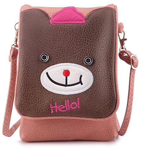 Big Handbag Shop - Borsa a tracolla bambina (Rosa pallido)