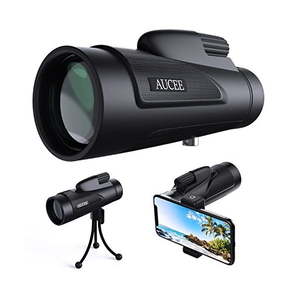 12×50 Monocular Telescope for Adults, AUCEE HD High Power Bak4 Prism Monocular Waterproof Monocular Scope with Smartphone Adapter Tripod for Birdwatching Hunting Hiking Camping Sightseeing 51qqyXF21KL