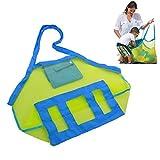 SUMERSHA faltbarer Beutel Strandtasche Sandspielzeug Aufbewahrung Sand Tasche Spielzeug-Speicher für Strand-Spielwaren