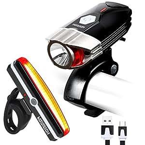 HODGSON USB Rechargeable Bike Light set, Super Bright 380