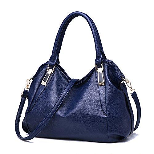 GUANGMING77 Portatile Singola Borsa A Tracolla Messenger Bag _,Notebook Borsa Marrone Deep blue bag