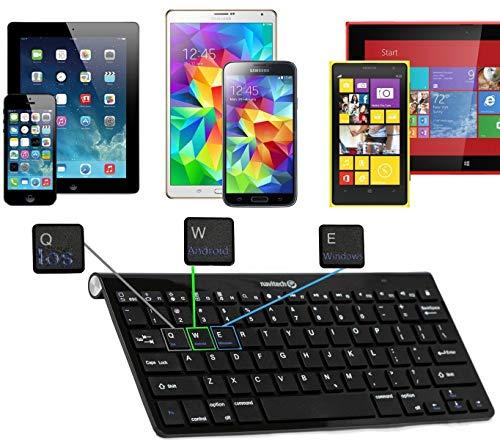 Navitech QWERTZ Wireless Bluetooth Keyboard/Tastatur kompatibel mit Verizon Ellipsis 8 | Winnovo 7.85-inch 4G-LTE Tablet | Yuntab H8 8 Inch A53 -