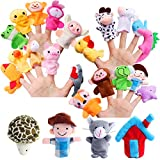 Defrsk 30 pezzi Peluche Finger Puppet Toys Mini peluche Figure peluche Mani burattini della barretta di gioco per i bambini Grande Famiglia Genitori Parlare storia ambientata per il compleanno del Ringraziamento regalo di Natale