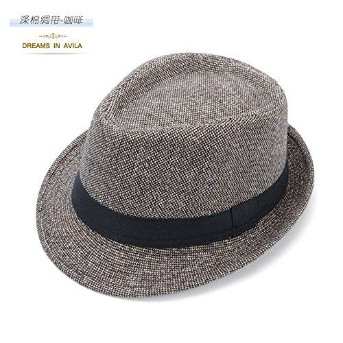 DMXY-chapeaux pour hommes et femmes en Angleterre vintage fashion Hat Chapeaux Chapeaux jazz gentleman chapeau vacances Cap loisirs Brown